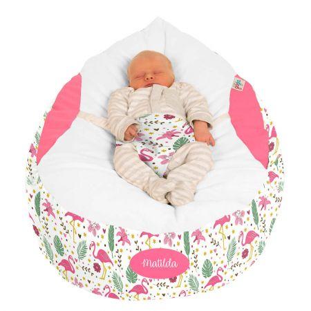 Gaga Baby Beanbag - Flamingo Print