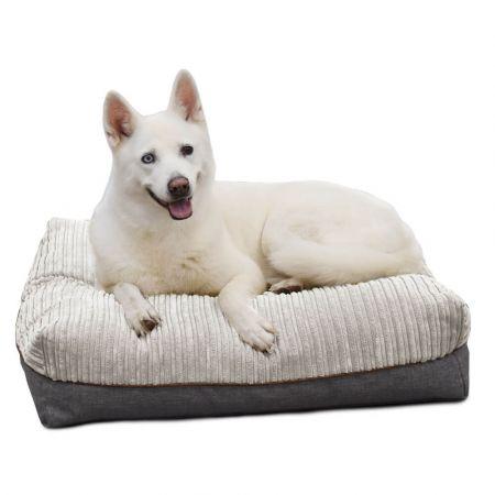 'Flip-It' Dog Bed Mattress - Medium - Platinum Grey