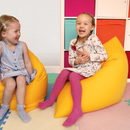 Mini 'Shape-It' Floor Cushion in Yellow