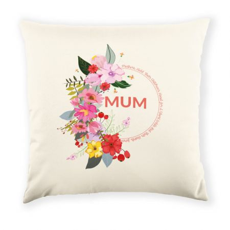 Personalised Floral Mum Cushion