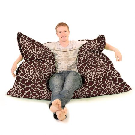 Luxury Faux Suede Animal Print Squashy Squarbie© Giant Beanbag
