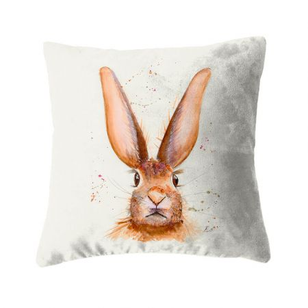 Harlow The Hare Cushion - Faux Suede