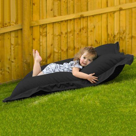 Indoor Outdoor Junior Squashy Squarbie Beanbag in Black