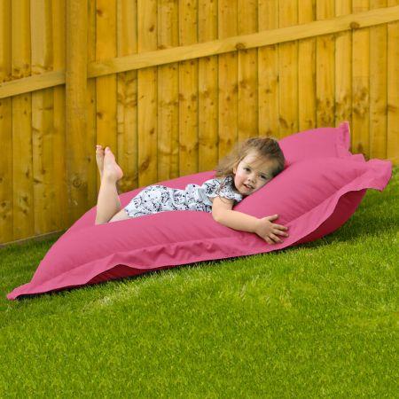 Indoor Outdoor Junior Squashy Squarbie Beanbag in Cerise Pink