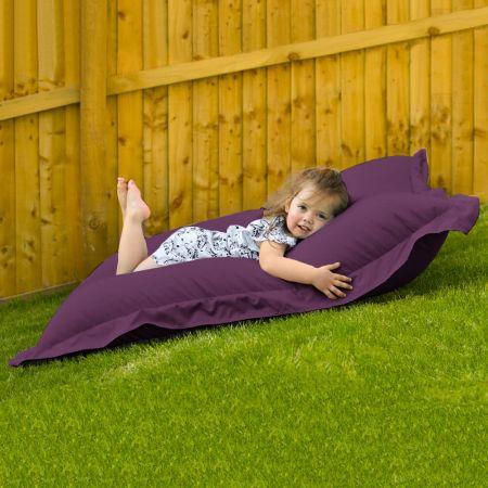 Indoor Outdoor Junior Squashy Squarbie Beanbag in Purple