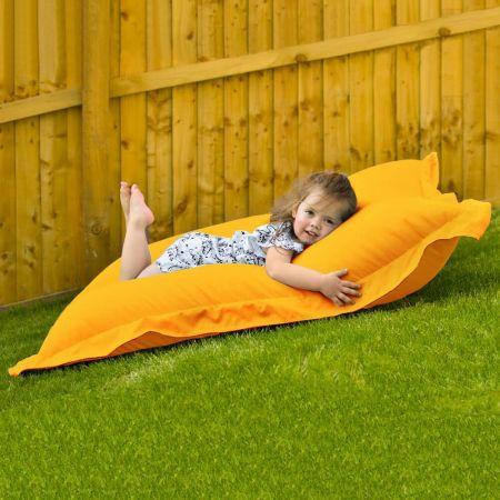 Junior Squashy Squarbie Bean Bag - Indoor/Outdoor - Yellow