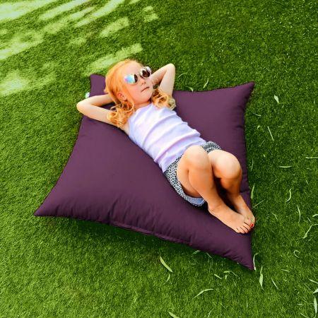 Purple Indoor Outdoor Square Floor Cushion