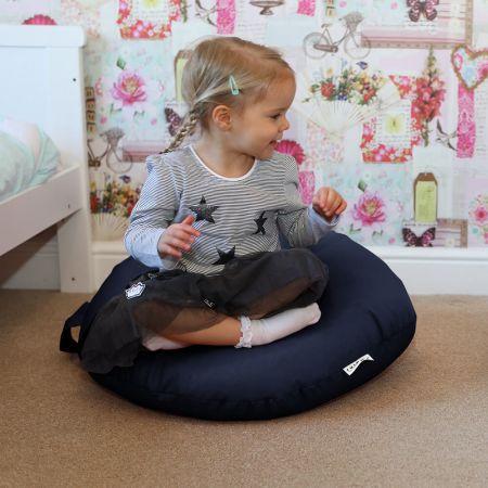 Navy Indoor/Outdoor Kids Smarty Cushion Beanbag