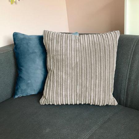 Jumbo Cord 40x40cm Cushion In Platinum Grey