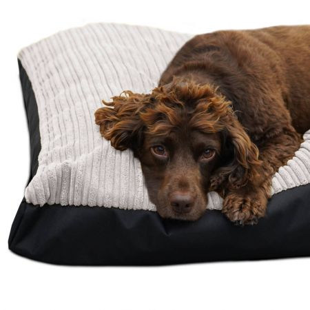 Large Jumbo Cord Pet Bed in Platinum Grey