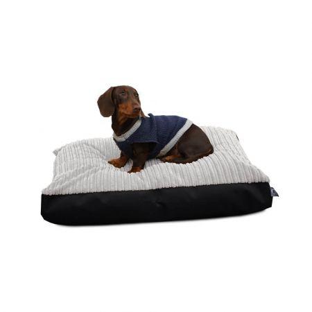 Small Jumbo Cord Pet Bed in Platinum Grey
