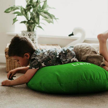 Emerald Green Kids Trend Smarty Floor Cushion Bean Bag
