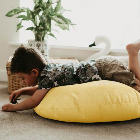 Lemon Yellow Kids Trend Smarty Floor Cushion Bean Bag