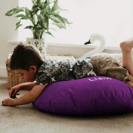 Purple Kids Trend Smarty Floor Cushion Bean Bag