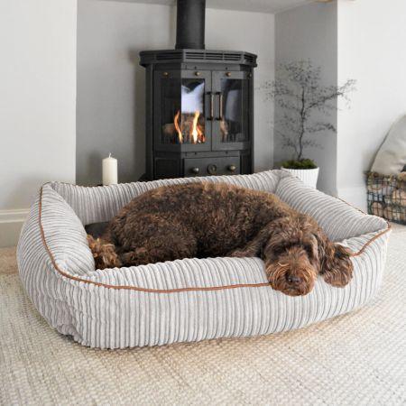 'Bolster' Dog Bed - Large - Platinum Grey