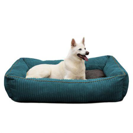 'Bolster' Dog Bed - Large - Teal