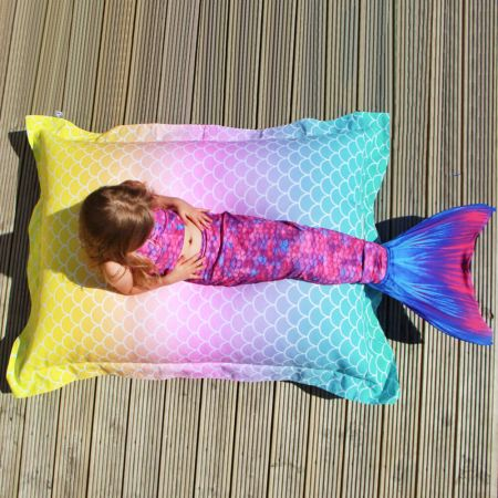 Kids Indoor/Outdoor Mermaid Tail Squarbie™ Beanbag