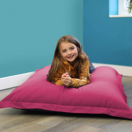 Large Shape-It Floor Cushion in Cerise Pink