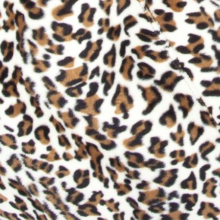 Faux Fur Snow Leopard Fabric