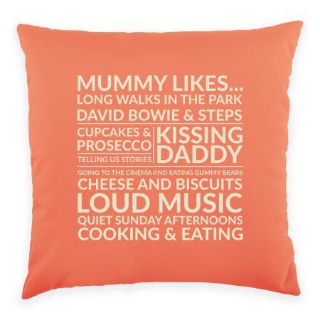 Mummy Likes 40cm x 40cm Cushion Front View