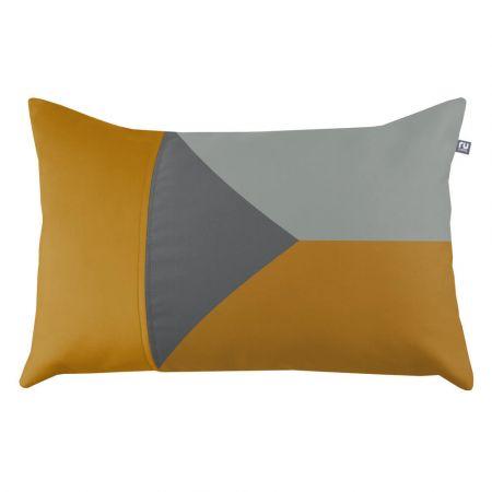 Geometric Cushion - Mustard