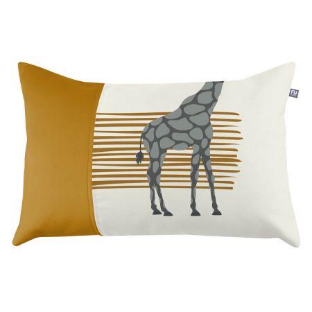 Giraffe Cushion - Mustard