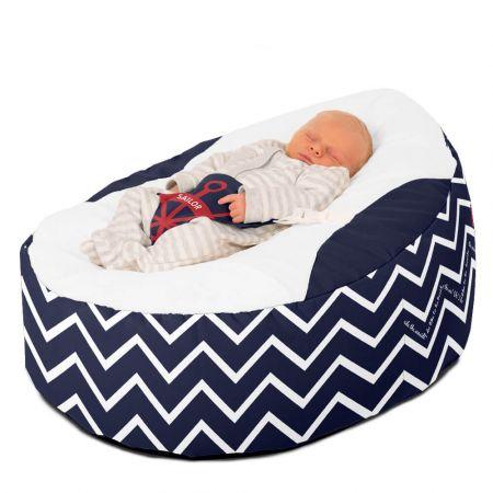 Luxury Cuddle Soft Sailor Gaga© Baby Bean bags In Navy Blue