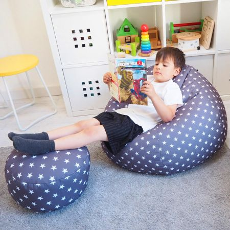 Comfy Kids Classic Stars Bean Bag Navy