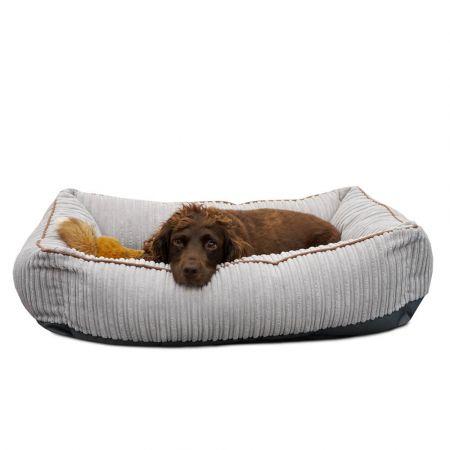 'Bolster' Dog Bed - Medium - Platinum Grey