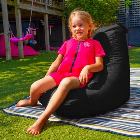 Beanbag Chair - Indoor/Outdoor - Little Kids - Black