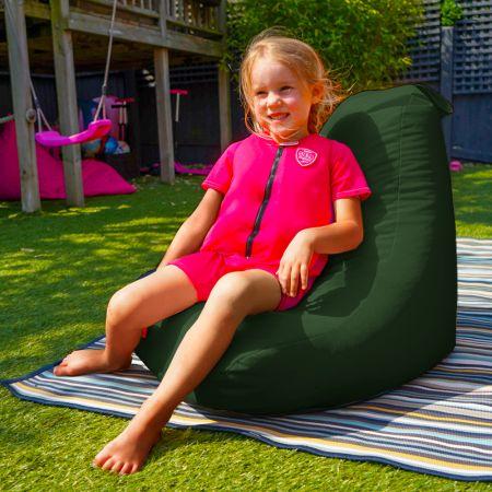 Beanbag Chair - Indoor/Outdoor - Little Kids - Bottle Green