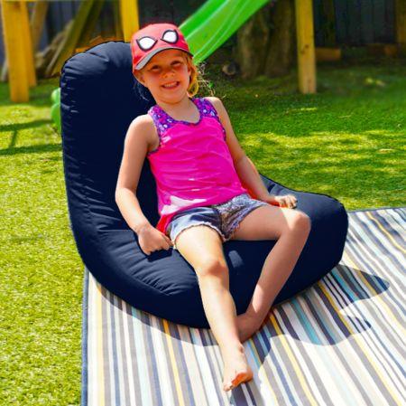 Beanbag Chair - Indoor/Outdoor - Little Kids - Navy Blue