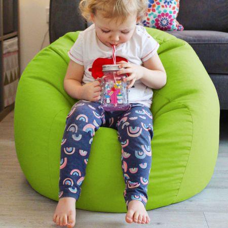 Comfy Kids Classic Lime Green Bean bag