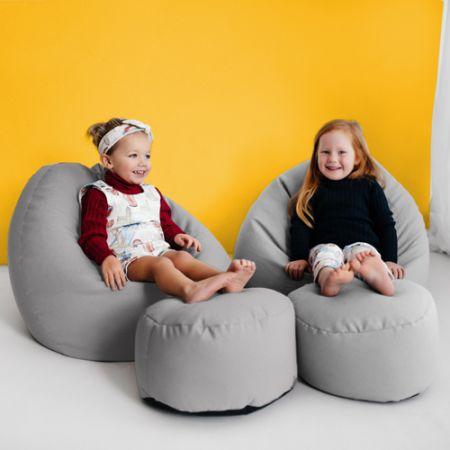 Kids Classic Beanbag - Platinum Grey