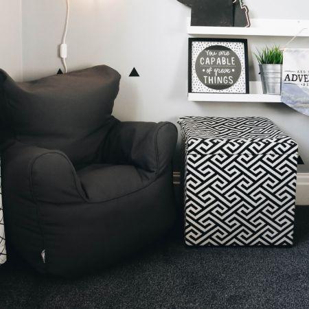 Childrens Beanbag Armchair - Grey