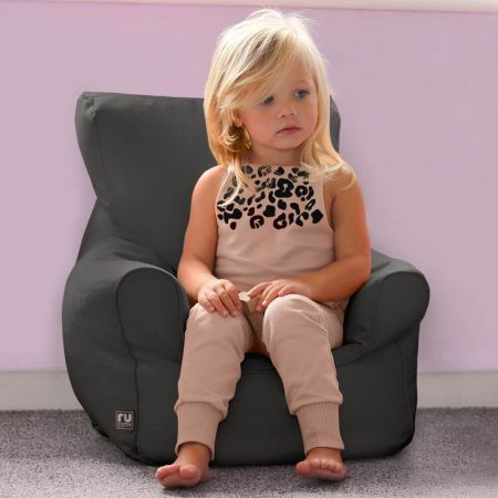 Toddler Armchair Bean Bag in Charcoal