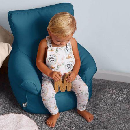 Toddler Armchair Bean Bag in Teal