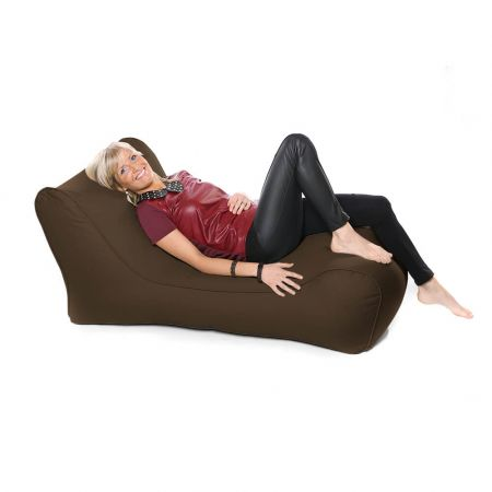 Outdoor Solo Lounger Beanbag In Brown