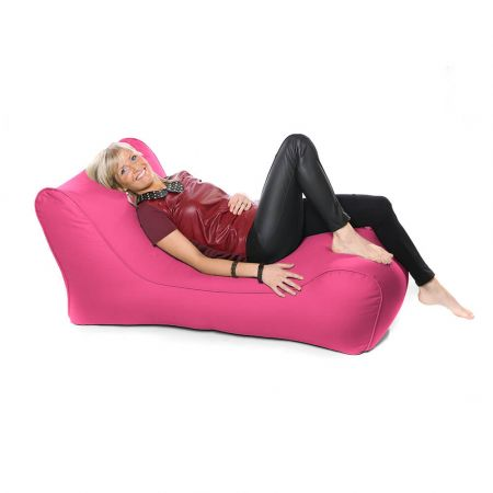Outdoor Solo Lounger Beanbag In Cerise Pink
