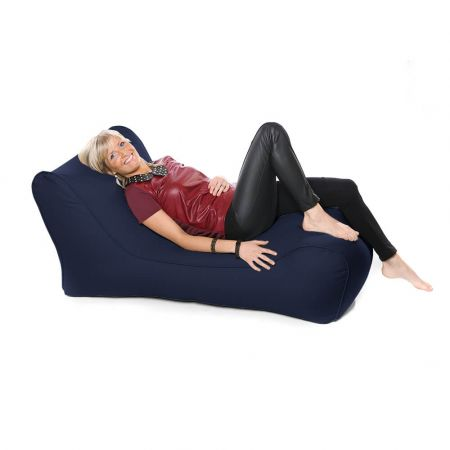 Outdoor Solo Lounger Beanbag In Navy Blue