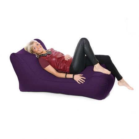 Outdoor Solo Lounger Beanbag In Purple