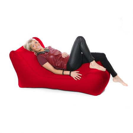 Outdoor Solo Lounger Beanbag In Red
