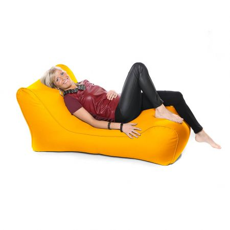 Outdoor Solo Lounger Beanbag In Yellow