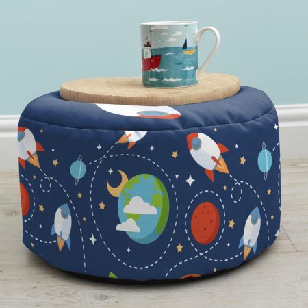 Outer Space Kids Stool as side table