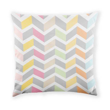 Pastel Chevron Cushion