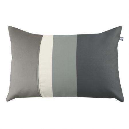 Striped Cushion - Grey