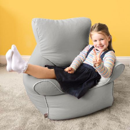 Childrens Armchair Bean Bag - Trend - Platinum