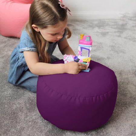 Kids beanbag stool in Purple