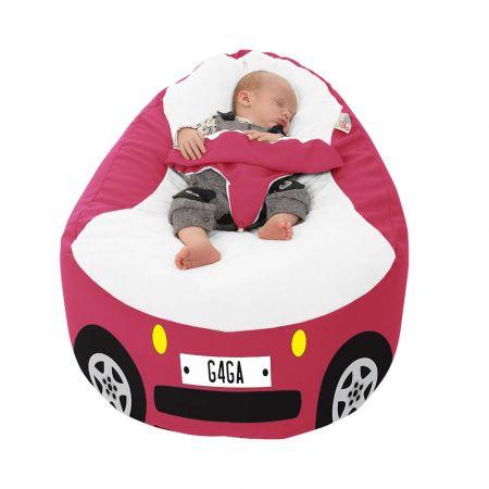 Racing Car Gaga Plus Baby to Junior Beanbag Cerise Pink