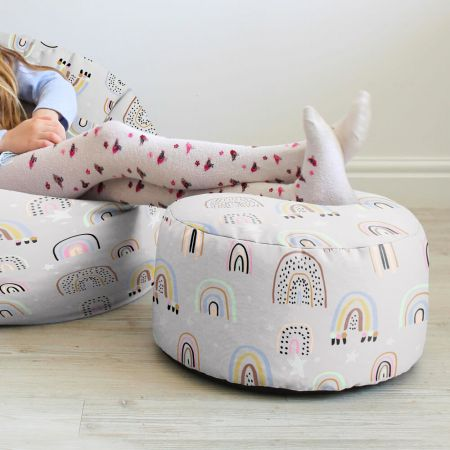 Rainbow and Stars Kids Stool